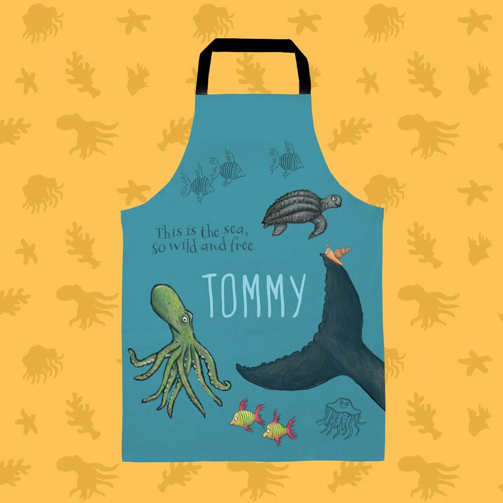 This is the sea so wild and free Personalised Apron 2