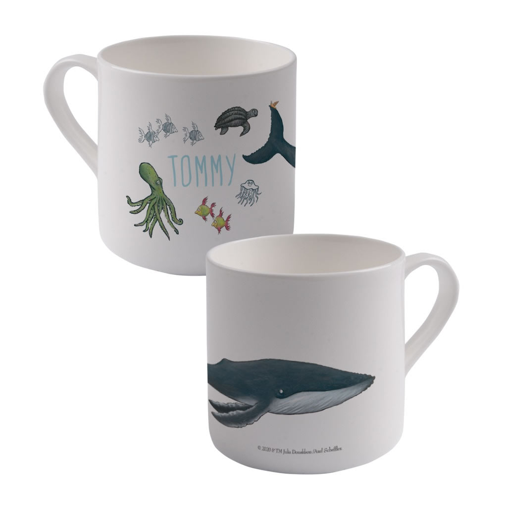 This is the sea so wild and free Personalised Large Bone China Mug