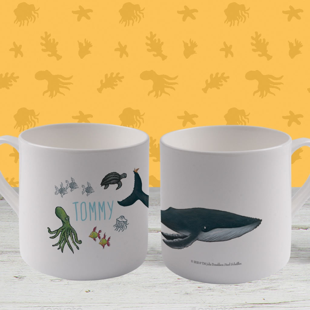 This is the sea so wild and free Personalised Large Bone China Mug 2