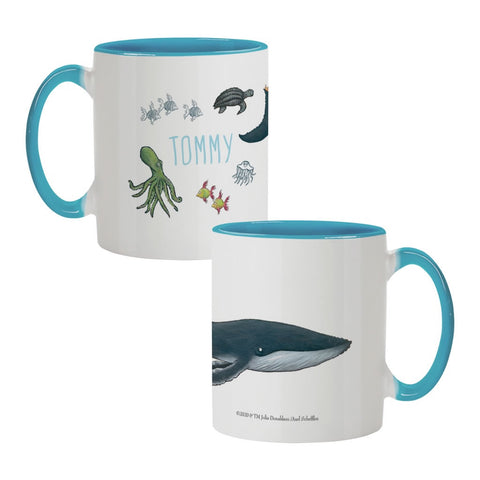 The Snail and the Whale - Personalised Coloured Insert Mugs