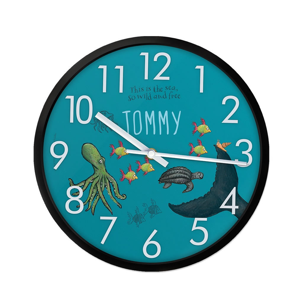 This is the sea so wild and free Personalised Clock