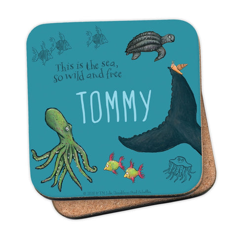 This is the sea so wild and free Personalised Coaster