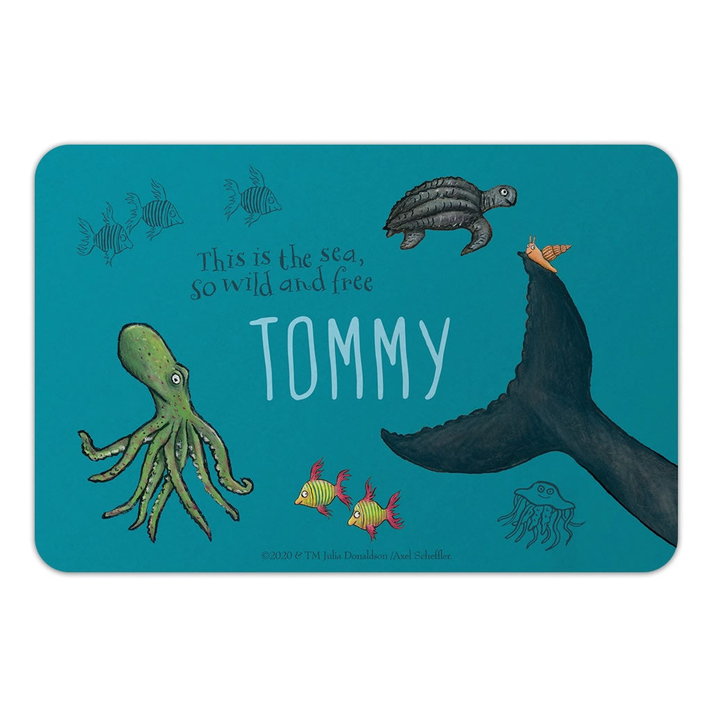 This is the sea so wild and free Personalised Door Plaque