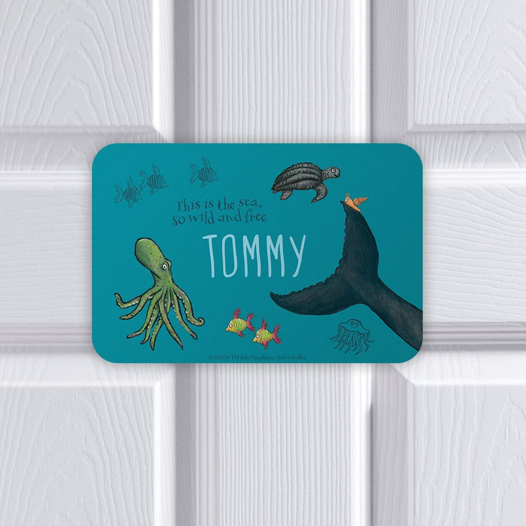 This is the sea so wild and free Personalised Door Plaque 2