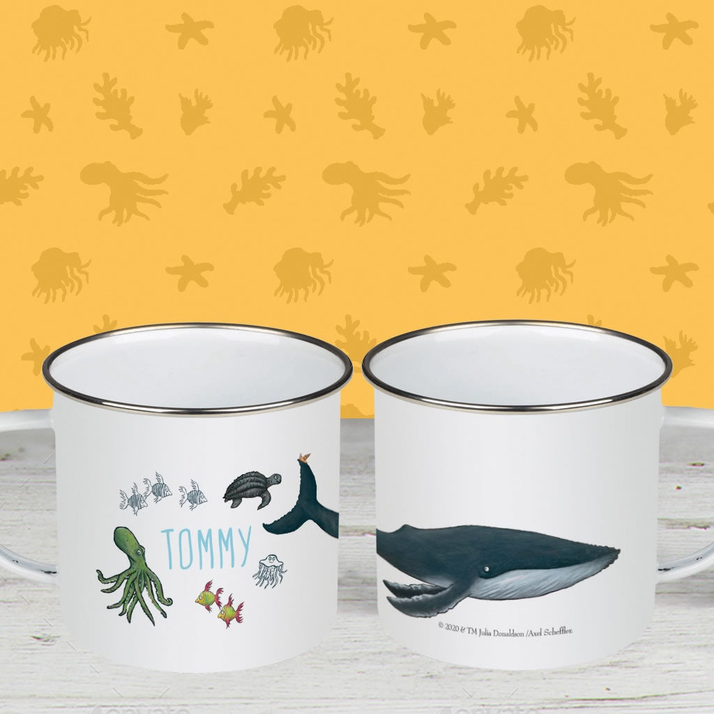 This is the sea so wild and free Personalised Enamel Mug 2