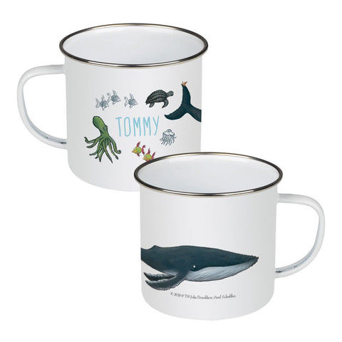 This is the sea so wild and free Personalised Enamel Mug