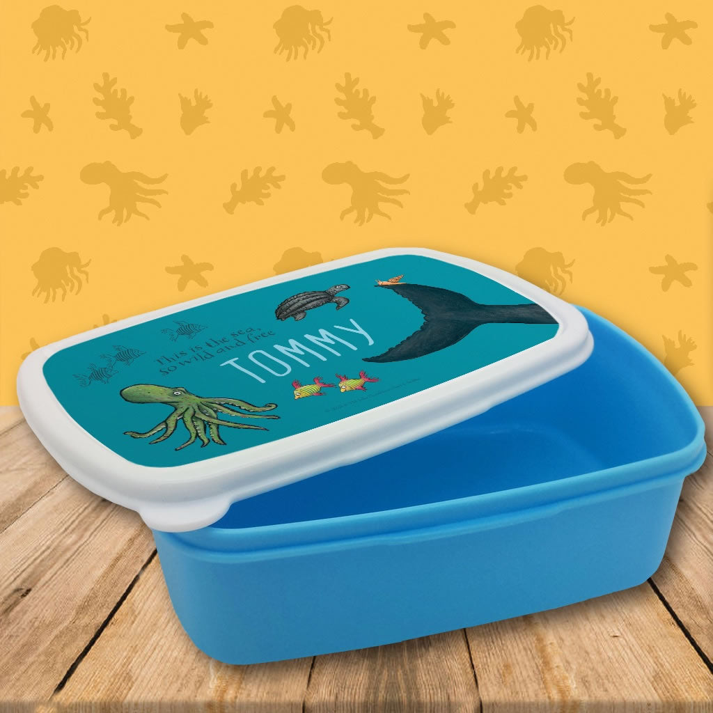 This is the sea so wild and free Personalised Lunch Box 2