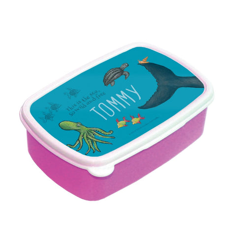 This is the sea so wild and free Personalised Lunch Box