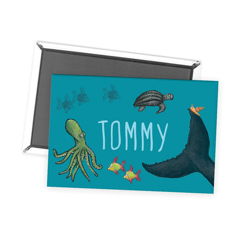 This is the sea so wild and free Personalised Magnet