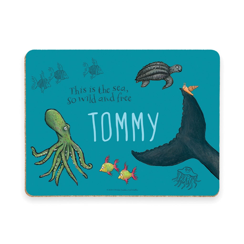 This is the sea so wild and free Personalised Placemat