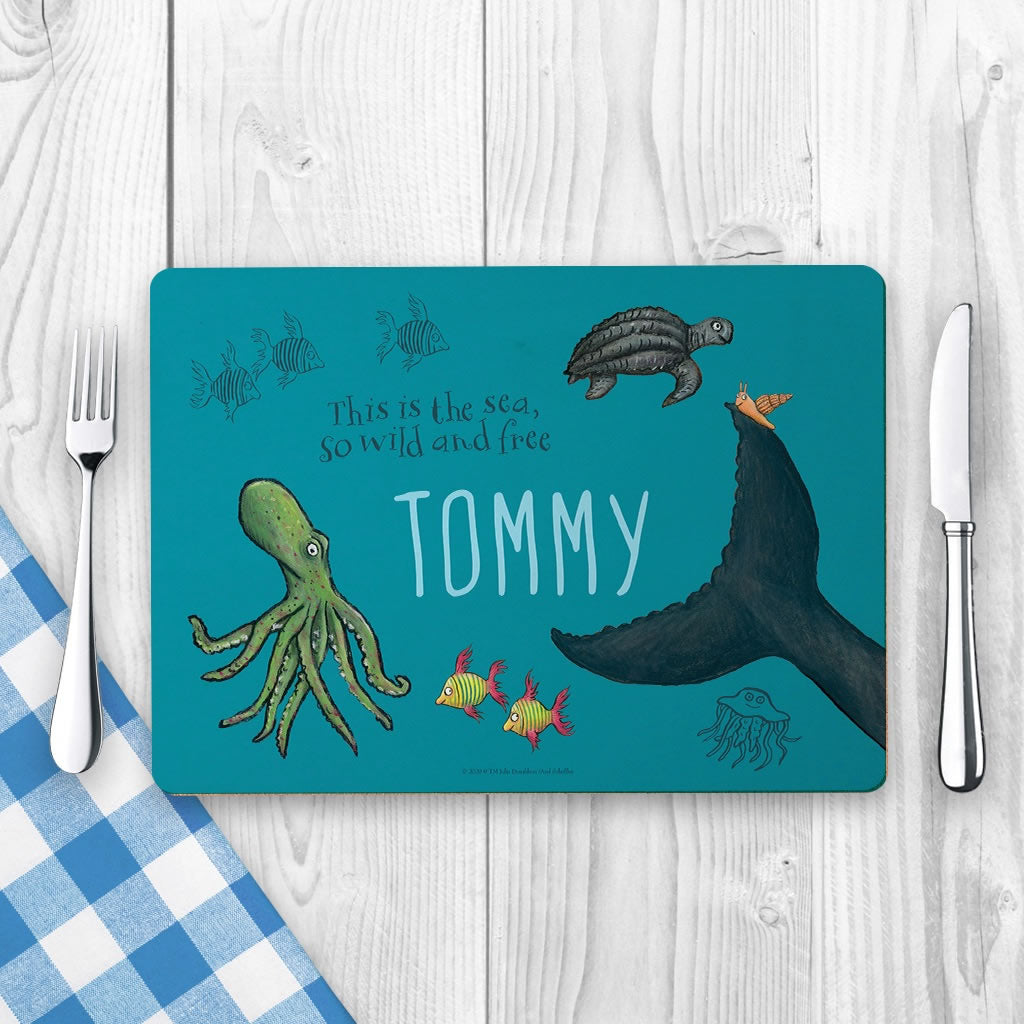 This is the sea so wild and free Personalised Placemat 2
