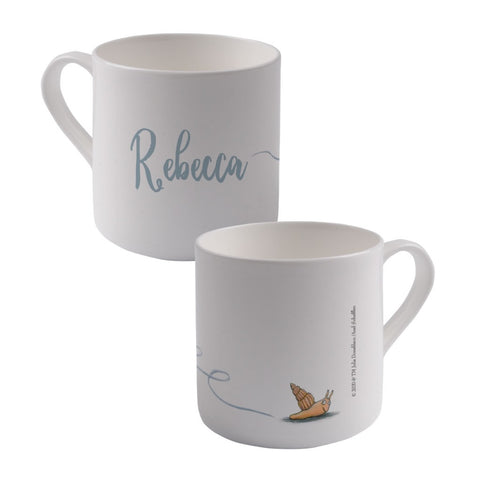 Snail Personalised Large Bone China Mug
