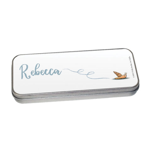 Snail Personalised Pencil Tin