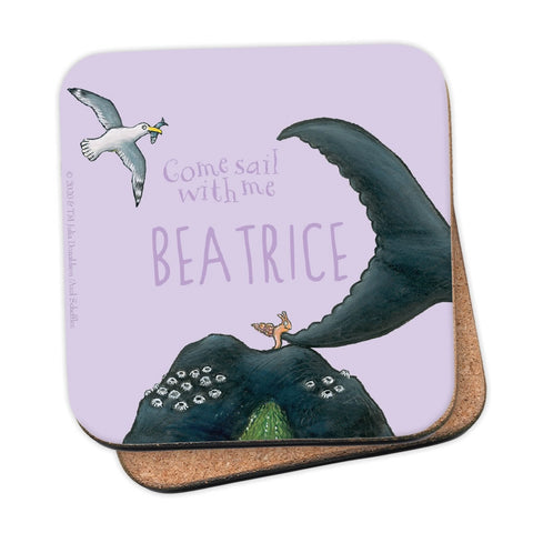 Come sail with me Personalised Coaster