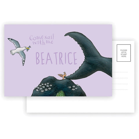 Come sail with me Personalised Postcard Pack of 8