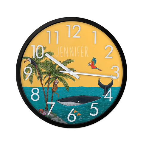 Palm Trees Personalised Clock