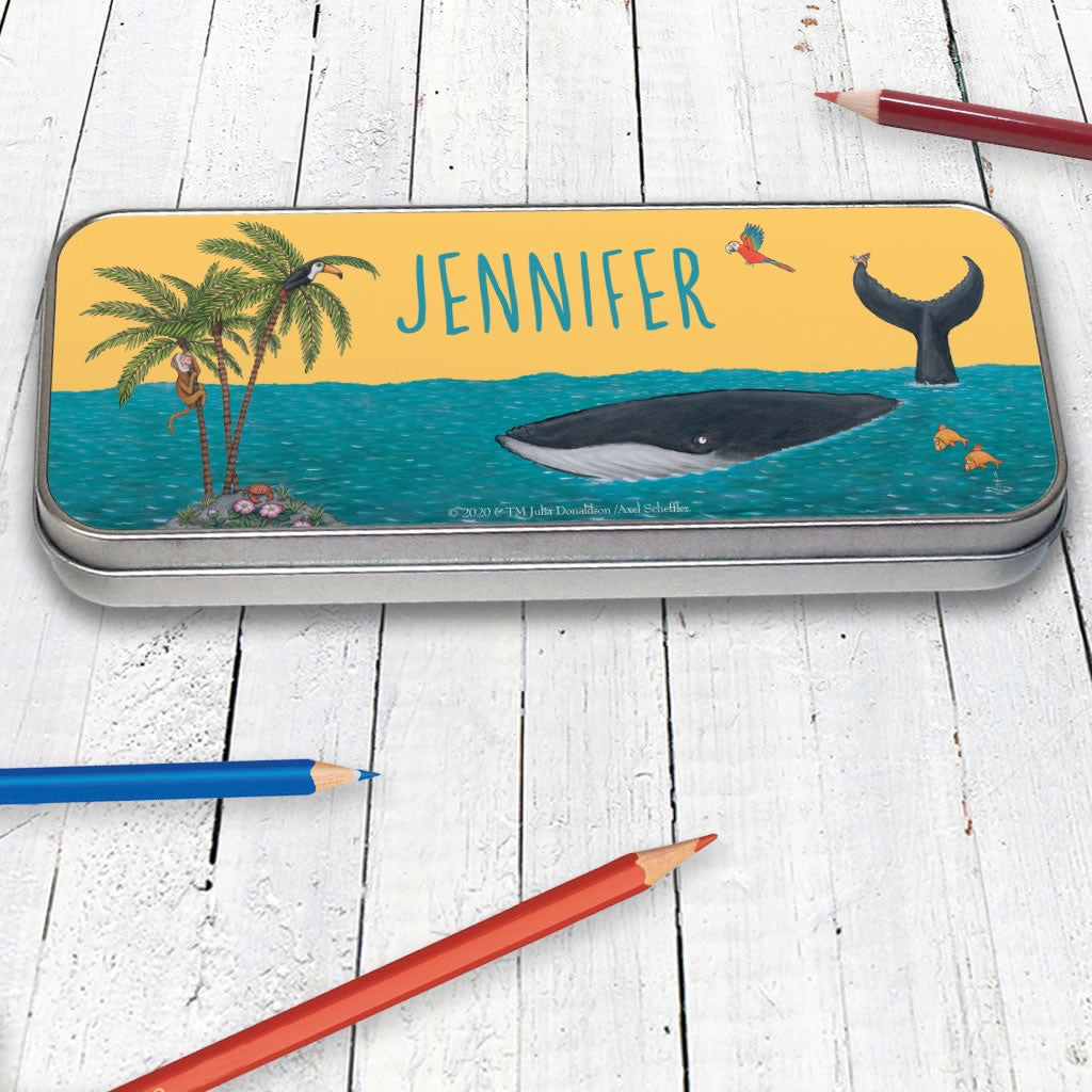 Palm Trees Personalised Pencil Tin 2