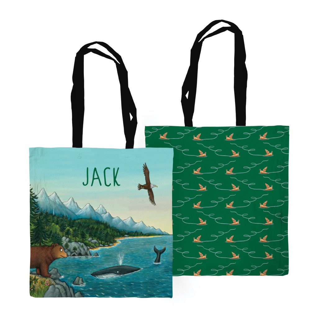 Mountains Personalised Edge to Edge Tote Bag