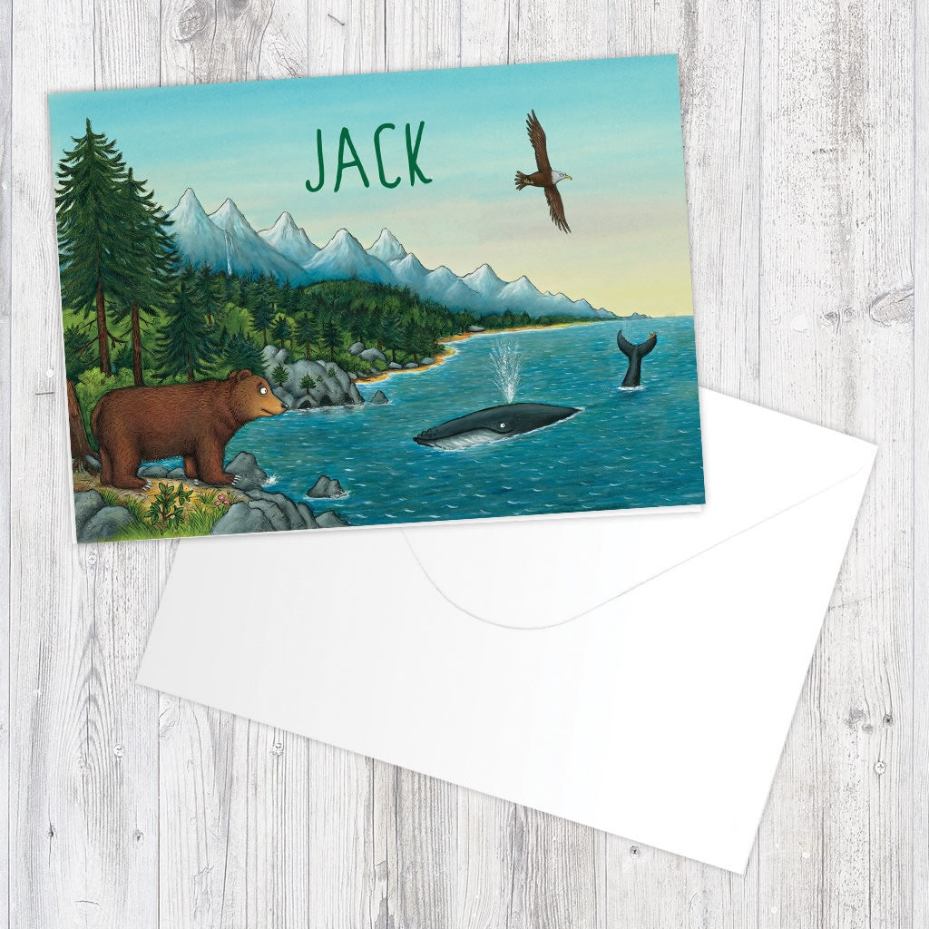 Mountains Personalised Greeting Card 2