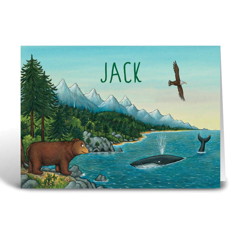 Mountains Personalised Greeting Card