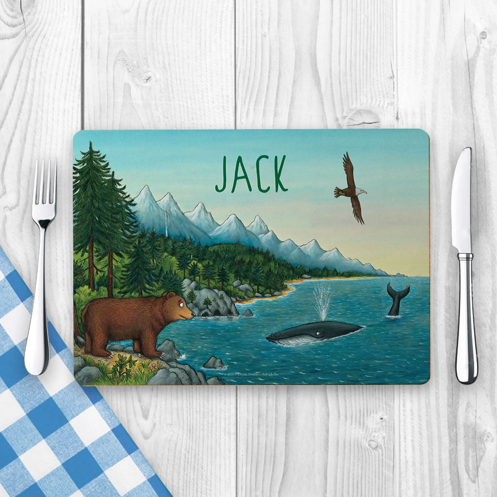Mountains Personalised placemat 2