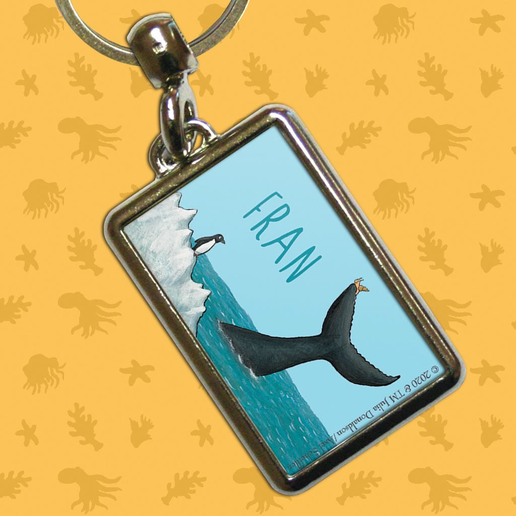The tiny snail Personalised Metal Keyring 2