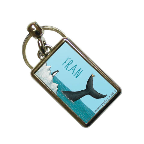 The tiny snail Personalised Metal Keyring
