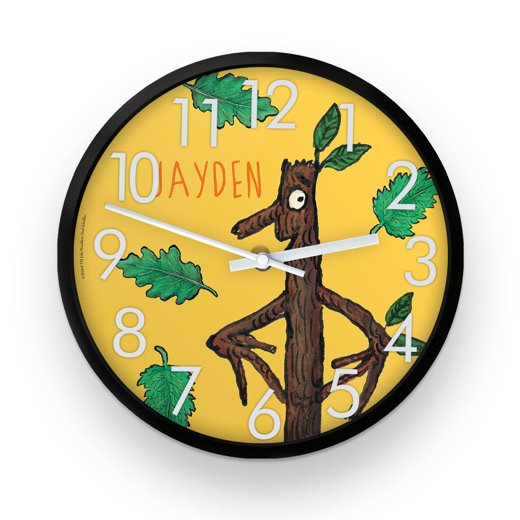 Yellow Stick Man  Personalised Clock