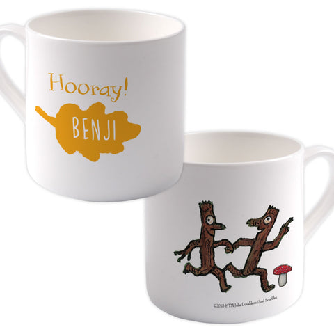 """Hooray""  Personalised Large Bone China Mug"