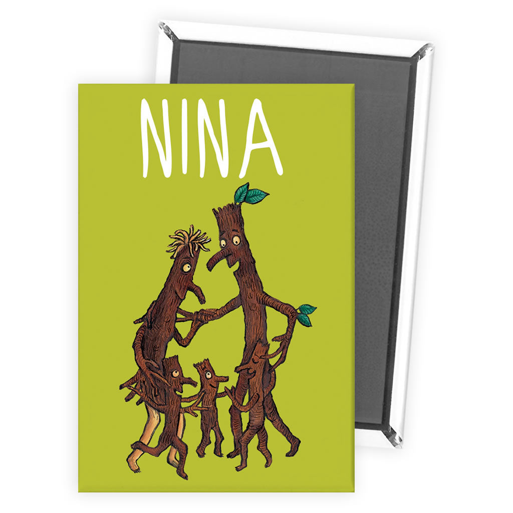 Green Stick Man Personalised Magnet