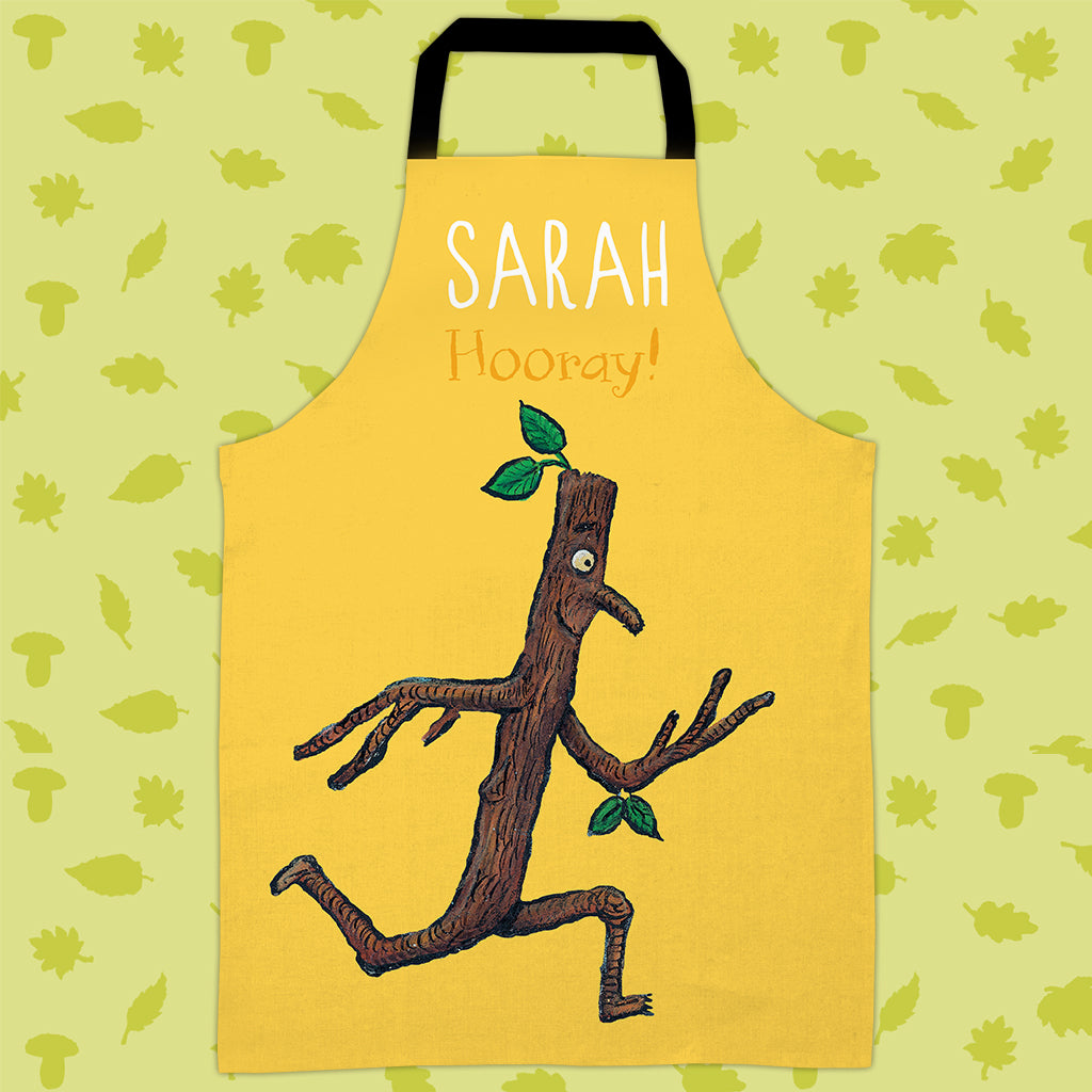 Yellow Stick Man Personalised Apron