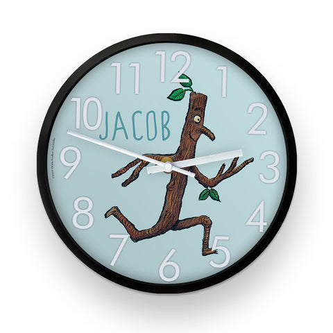 Stick Man Running  Personalised Clock