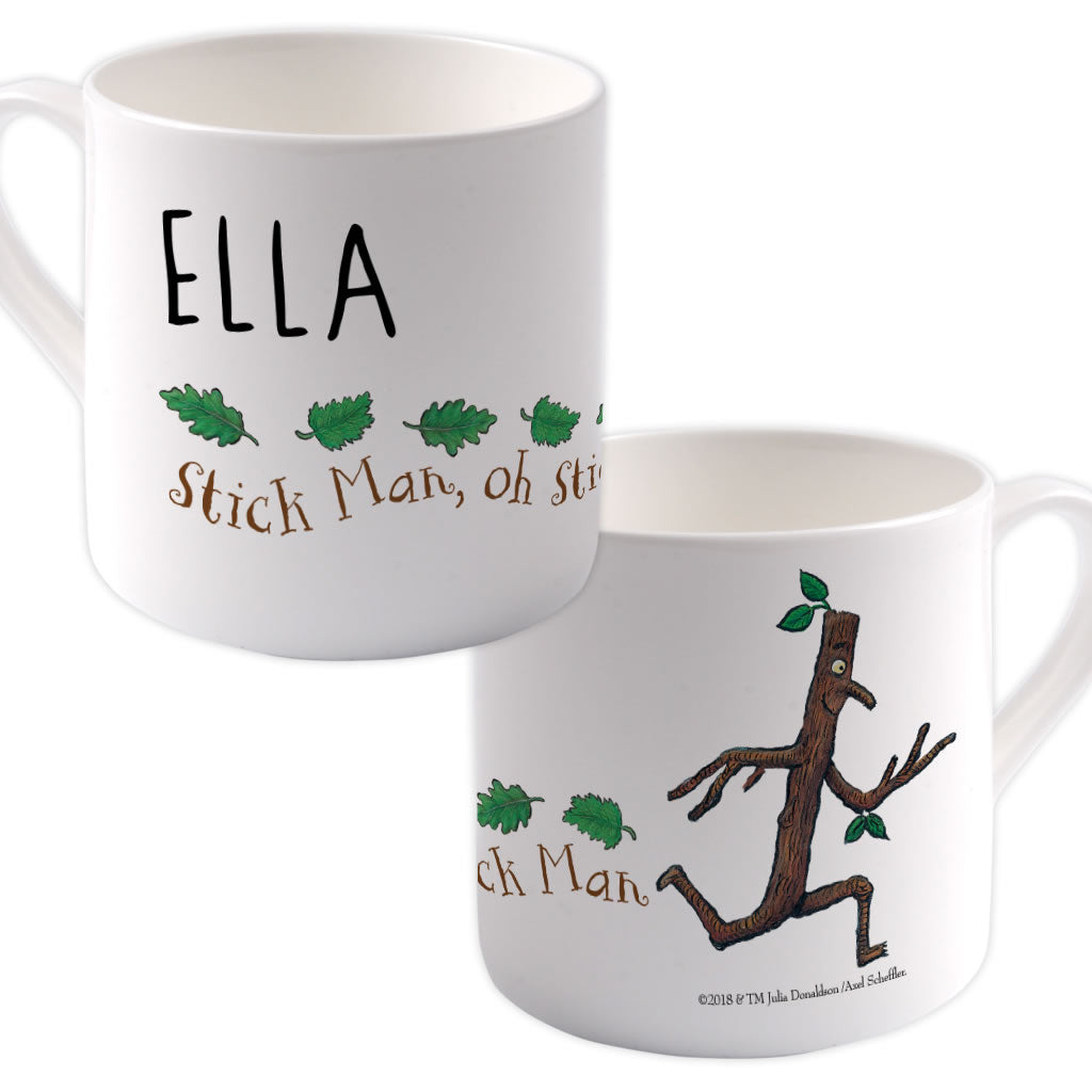 Stick Man  Personalised Large Bone China Mug