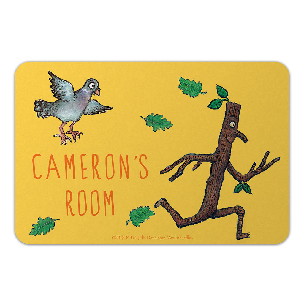 Personalised Yellow Stick Man Personalised Door Plaque