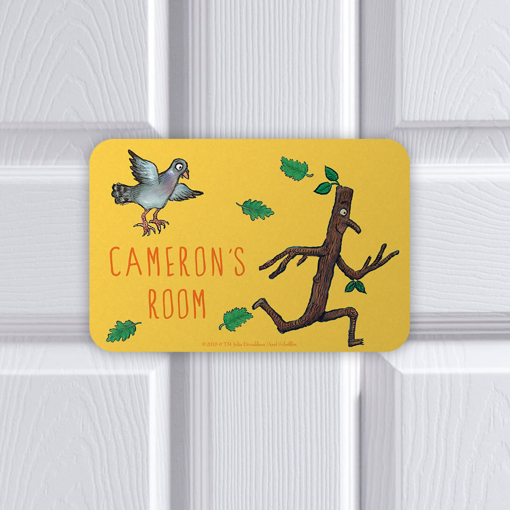 Personalised Yellow Stick Man Personalised Door Plaque (Lifestyle)