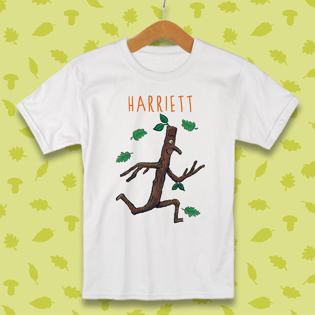 Stick Man Running Personalised T-shirt