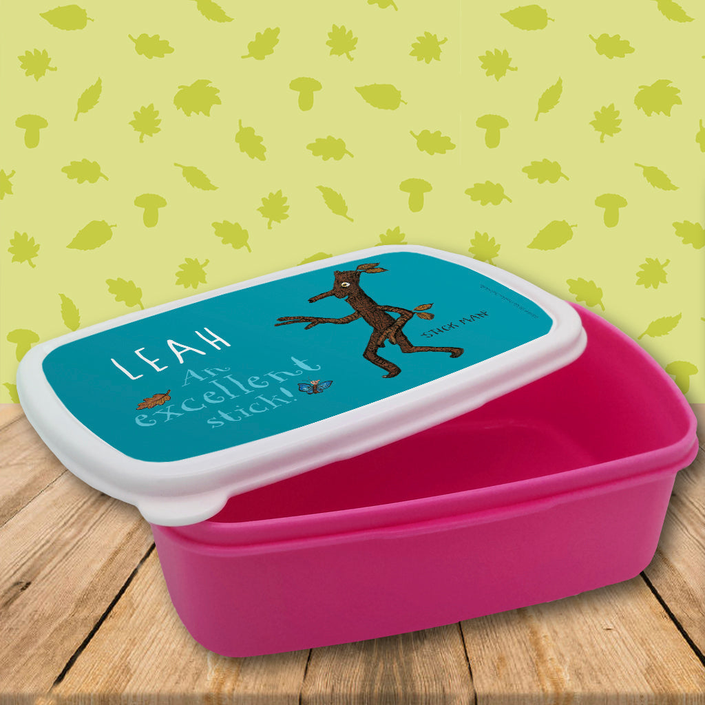Blue Stick Man Personalised Lunch Box