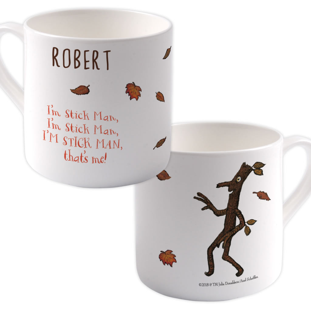 """I'm the Stick Man"" Personalised Large Bone China Mug"