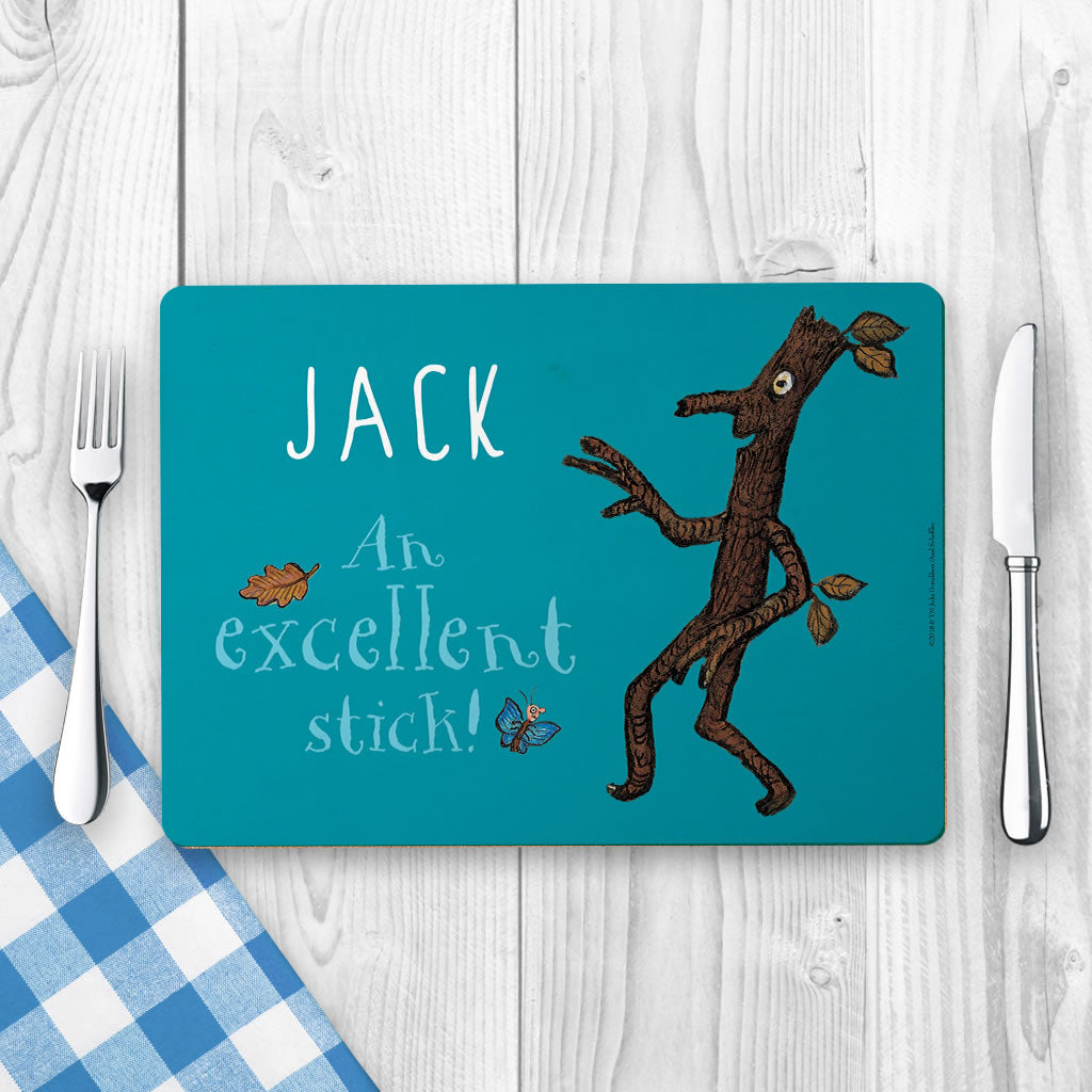 Blue Stick Man Personalised Placemat (Lifestyle)