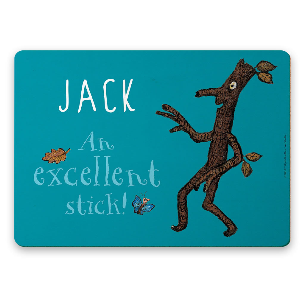 Blue Stick Man Personalised Placemat