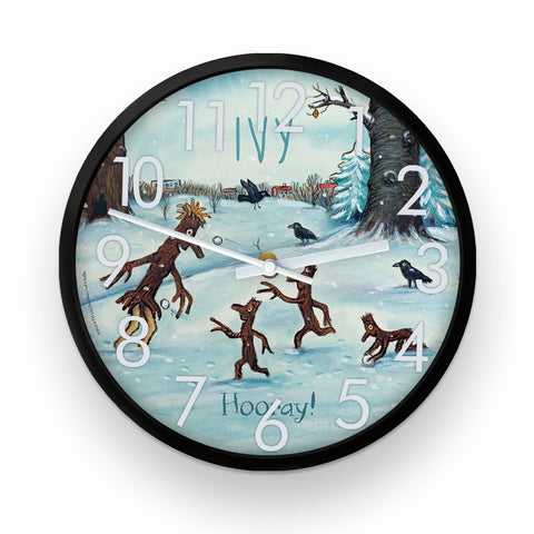 Stick Man Family  Personalised Clock