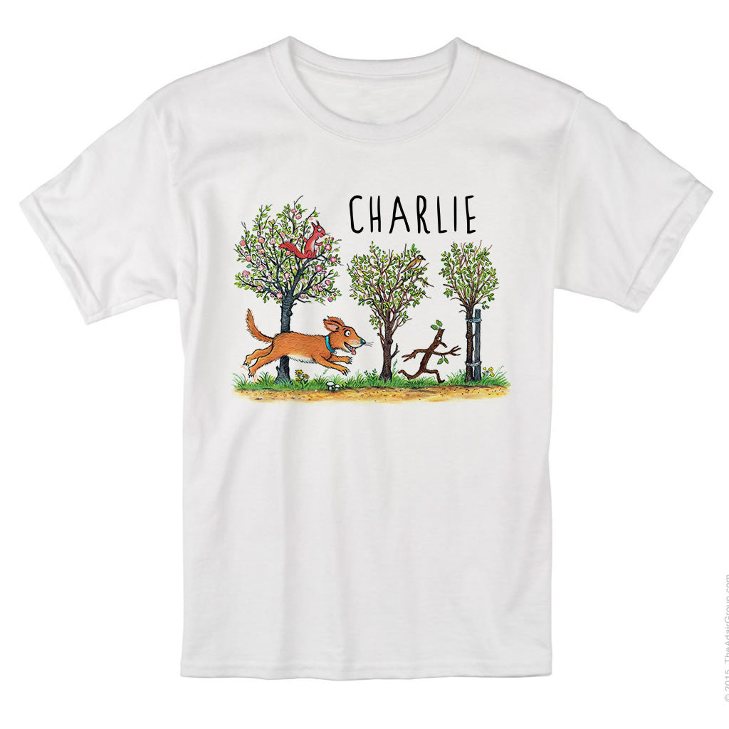 Stick Man Chase Personalised T-shirt