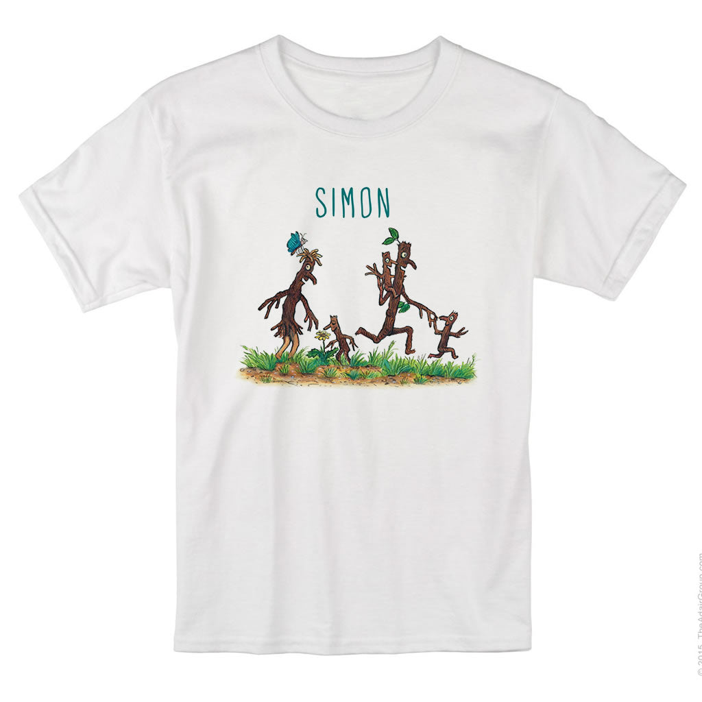 Stick Man and Family Personalised T-shirt