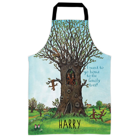 Family Tree Stick Man Personalised Apron