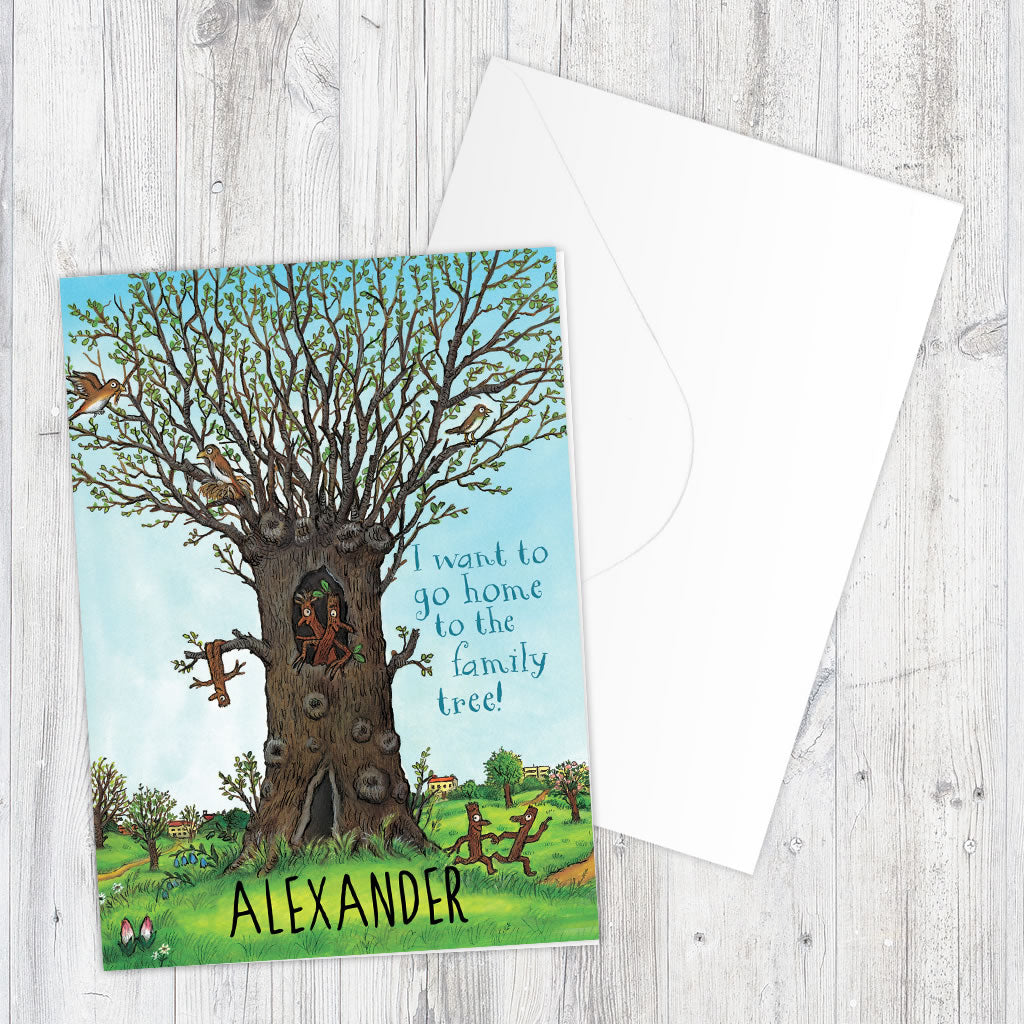 Stick Man Family Tree Greeting Card Personalised Greeting Card (Lifestyle)