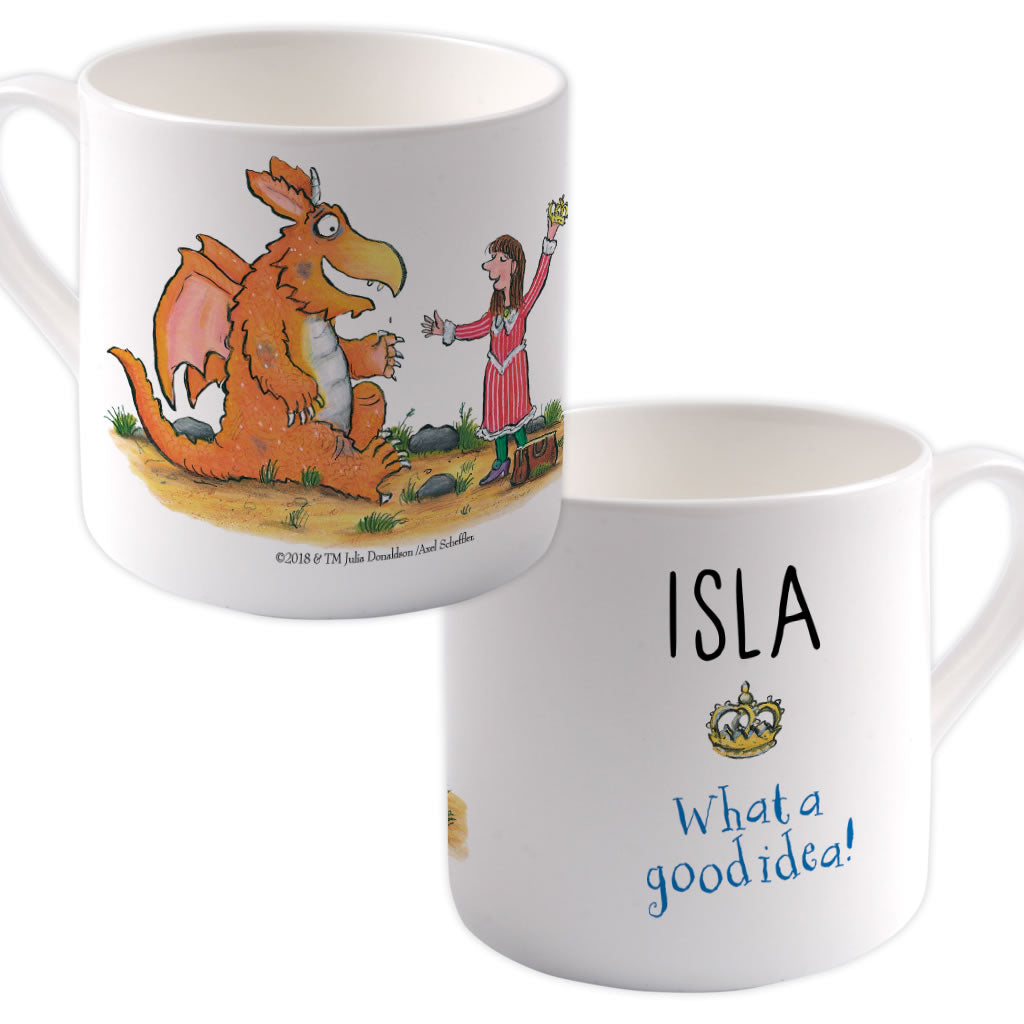 """What a good idea!"" Zog Personalised Large Bone China Mug"