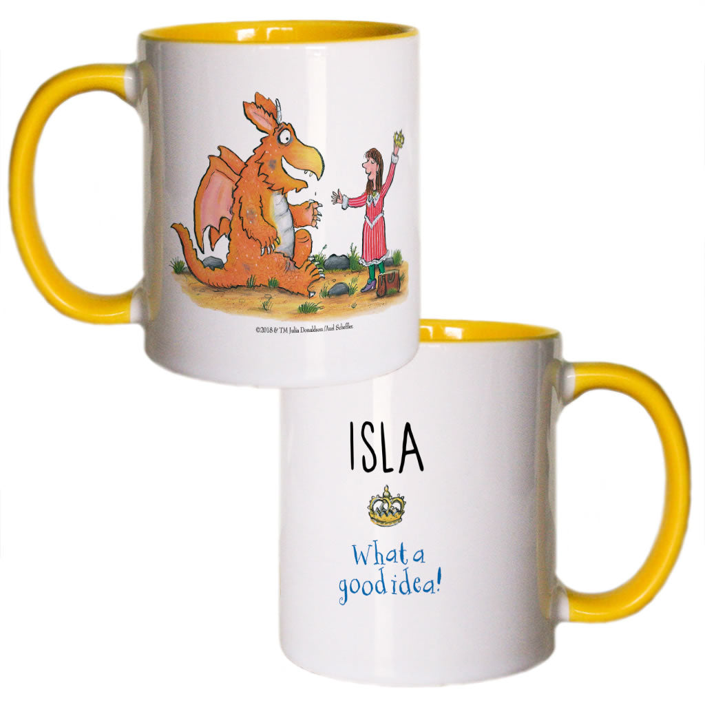 """What a good idea!"" Zog Personalised Coloured Insert Mug"