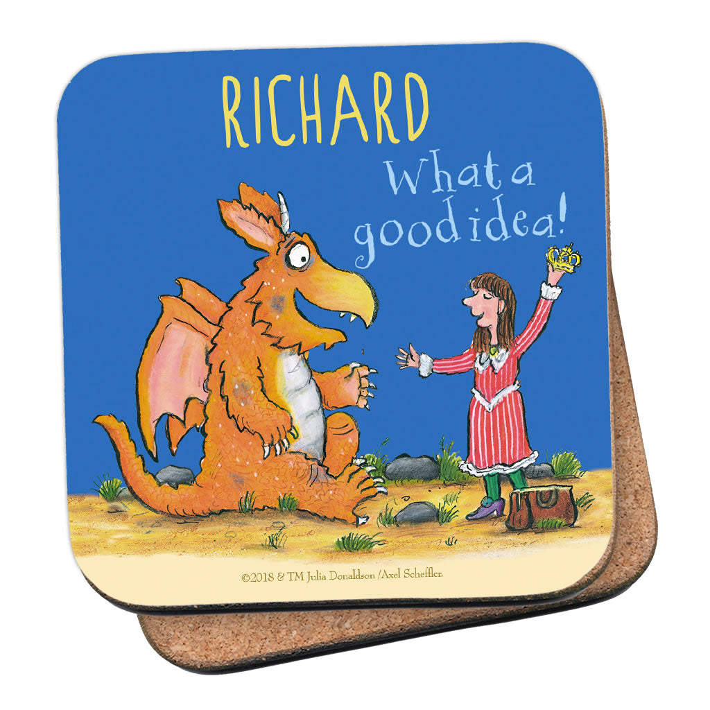"""What a good idea!"" Zog Personalised Coaster"
