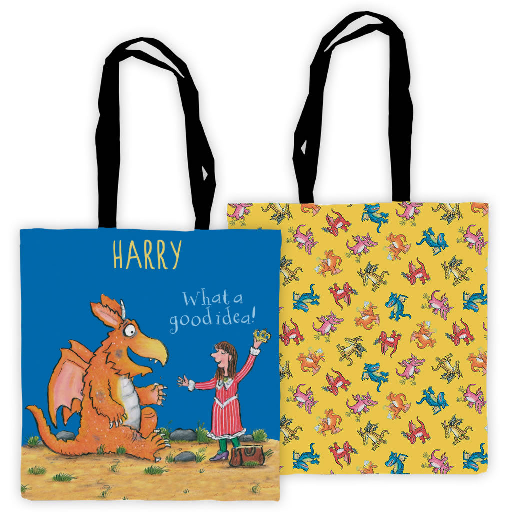 """What a good idea!"" Zog Personalised Edge to Edge Tote Bag"