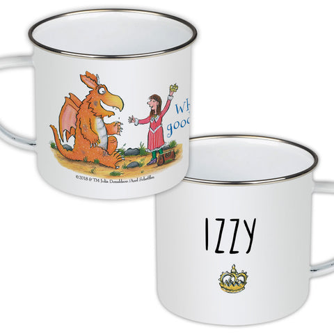 """What a good idea! Zog Personalised Enamel Mug"